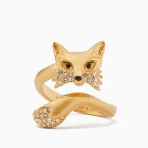 🆕 Kate Spade So Foxy 🦊 Fox Ring size 8 NWT